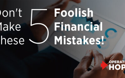 Don't Make These 5 Foolish Financial Mistakes